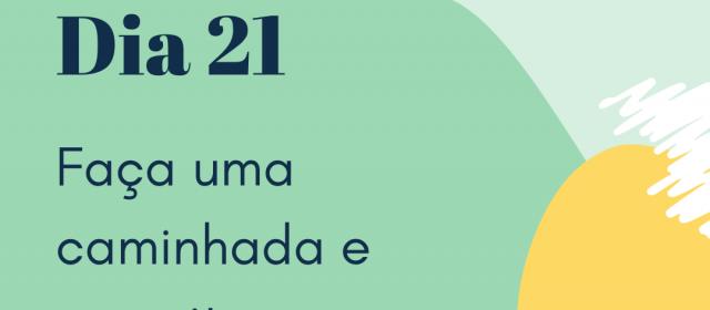 Dia 21 – Faça uma caminhada e exercite sua consciência